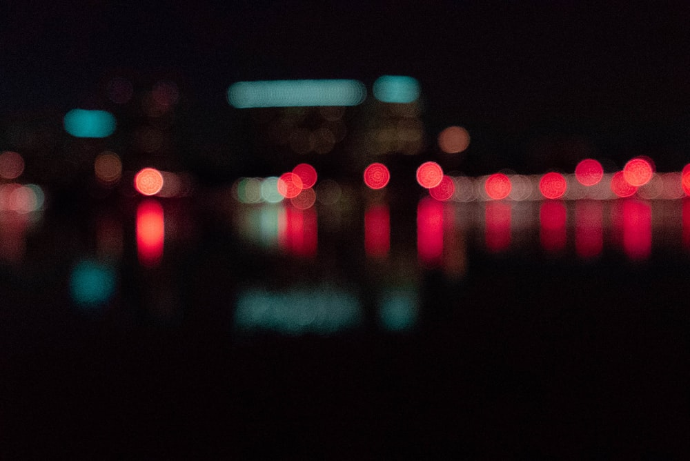 photo of red bokeh lights