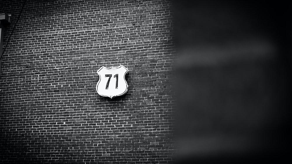 number 71 signage