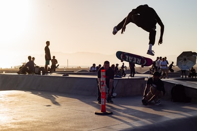 person performing trick on skateboard