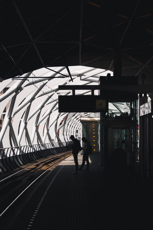 person waiting train