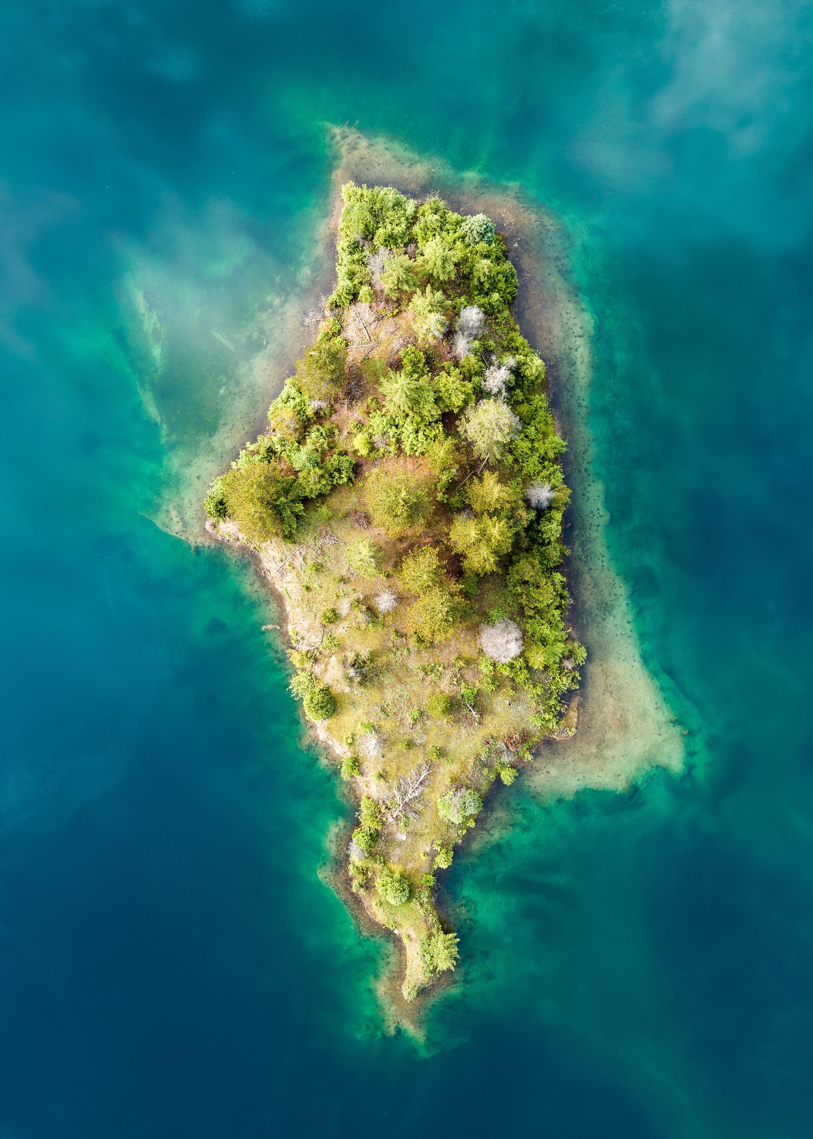bird's eye view of islet
