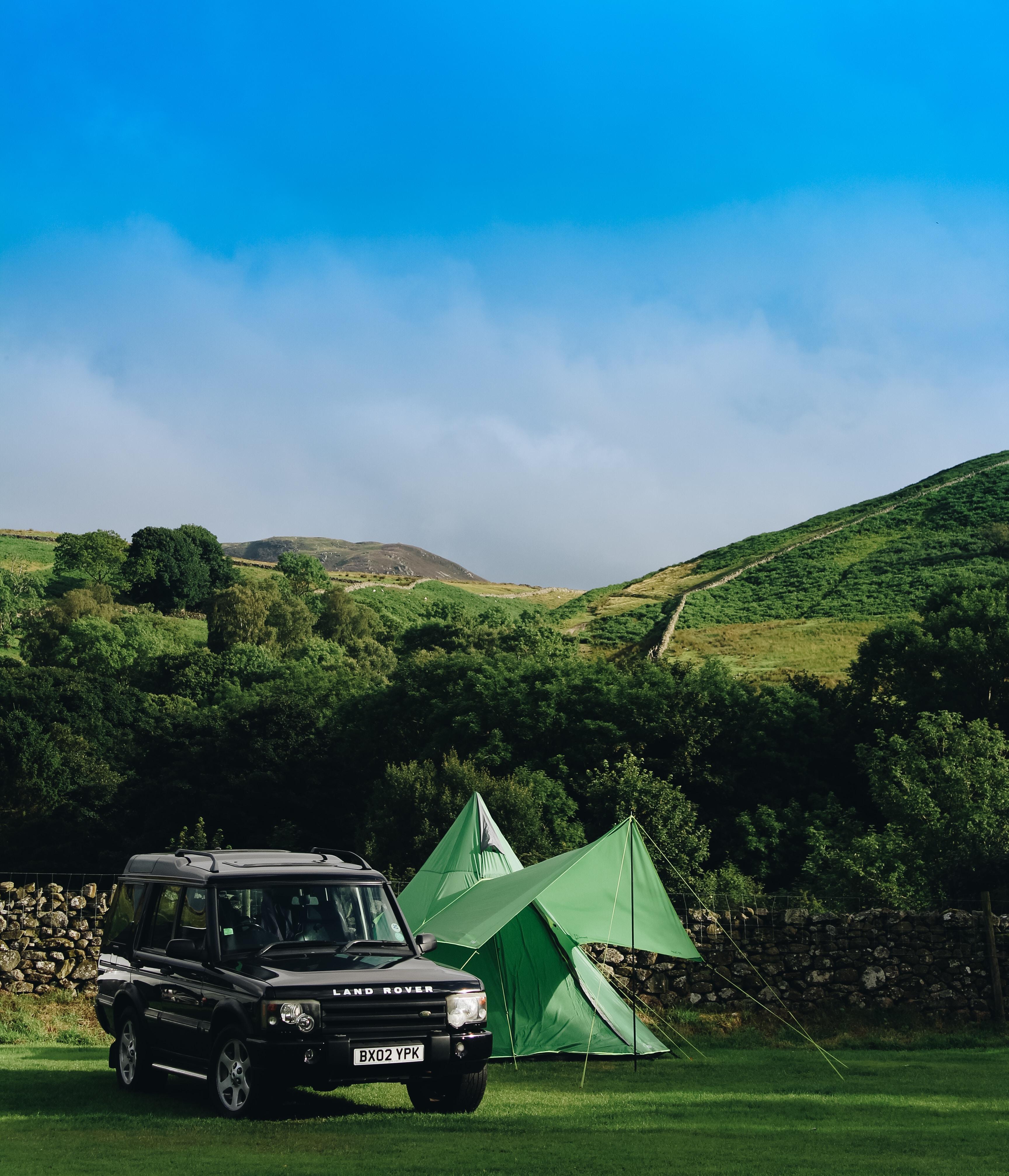 black Land Rover Range Rover SUV