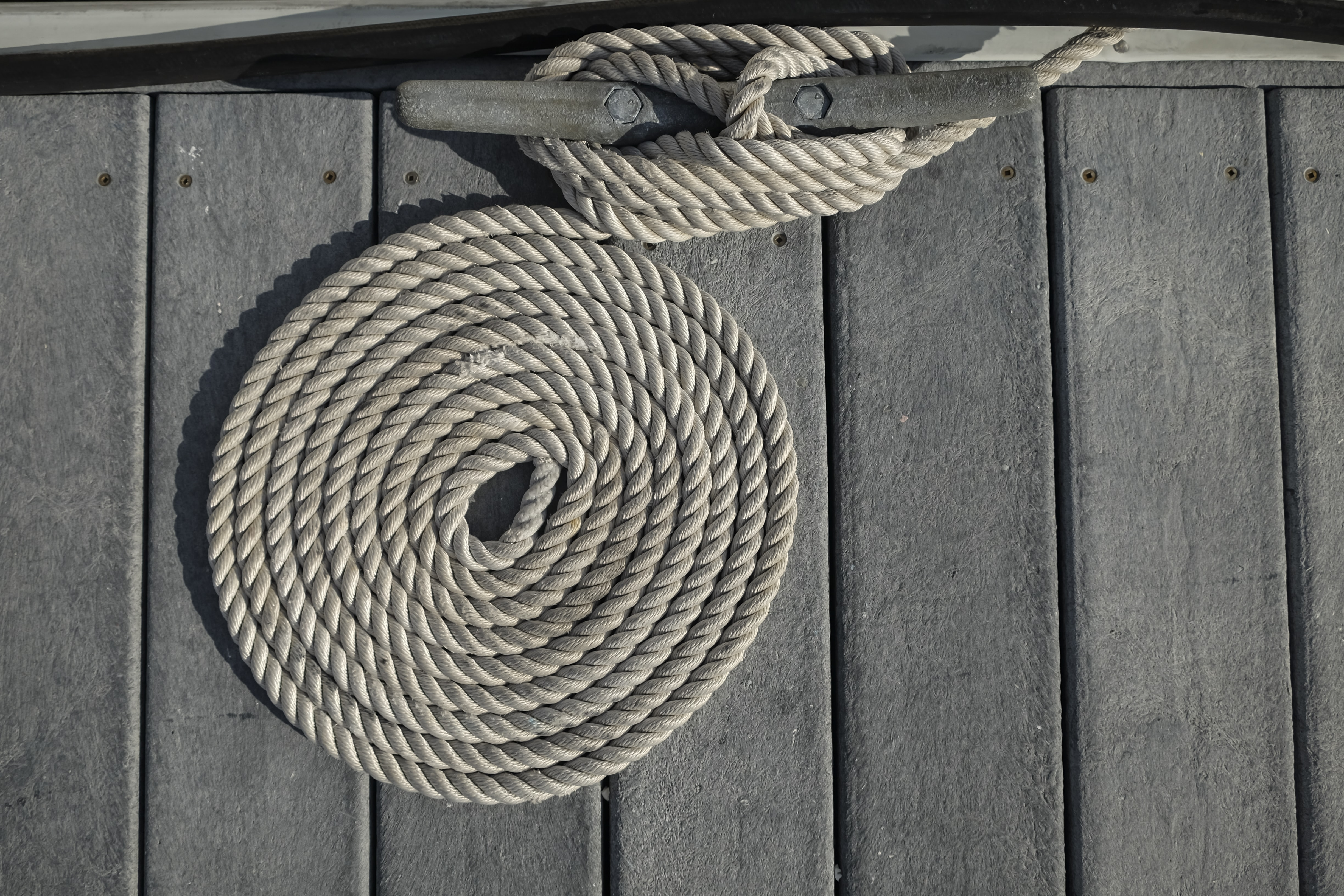 rolled brown rope
