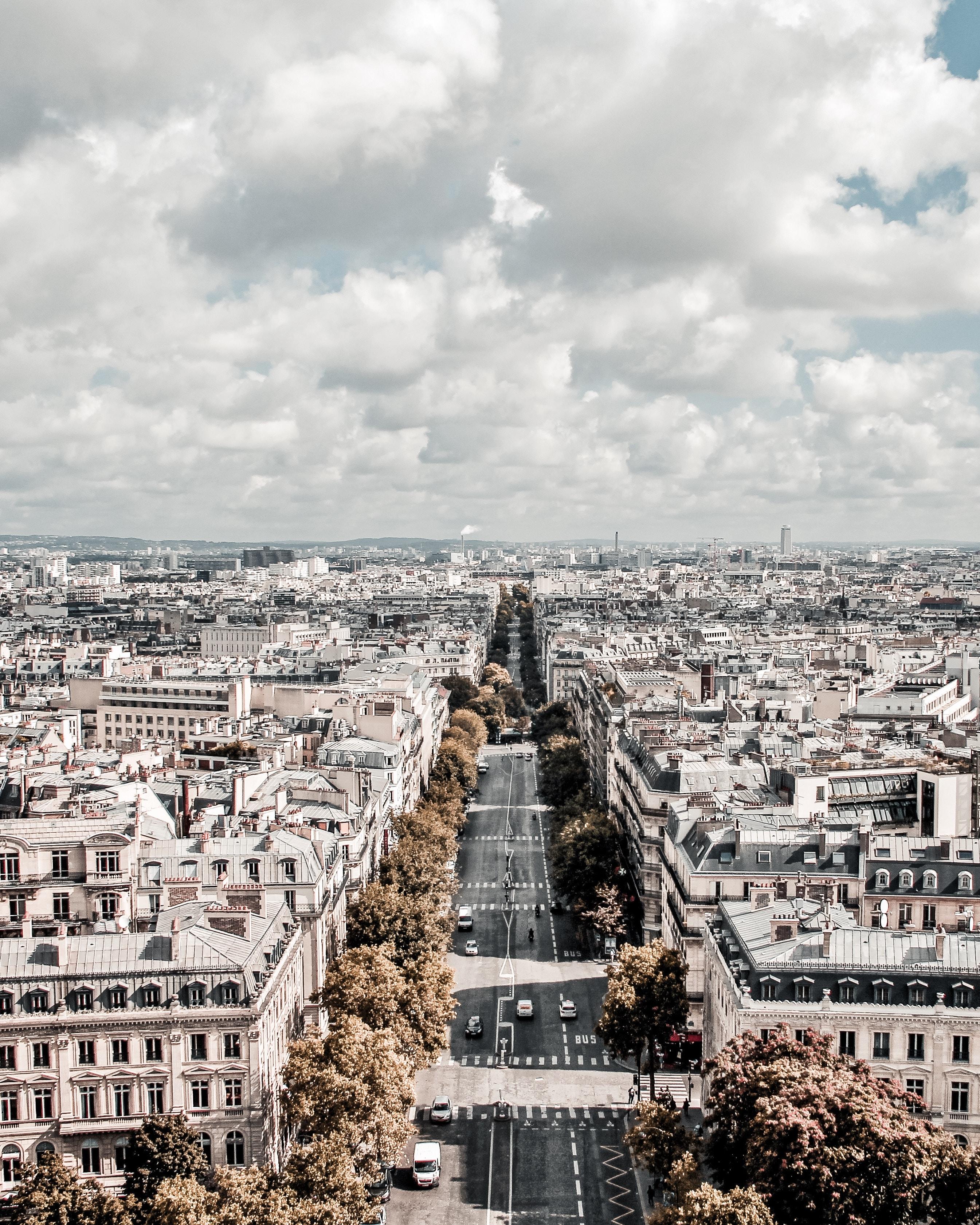 bird's eye photography of cityscape