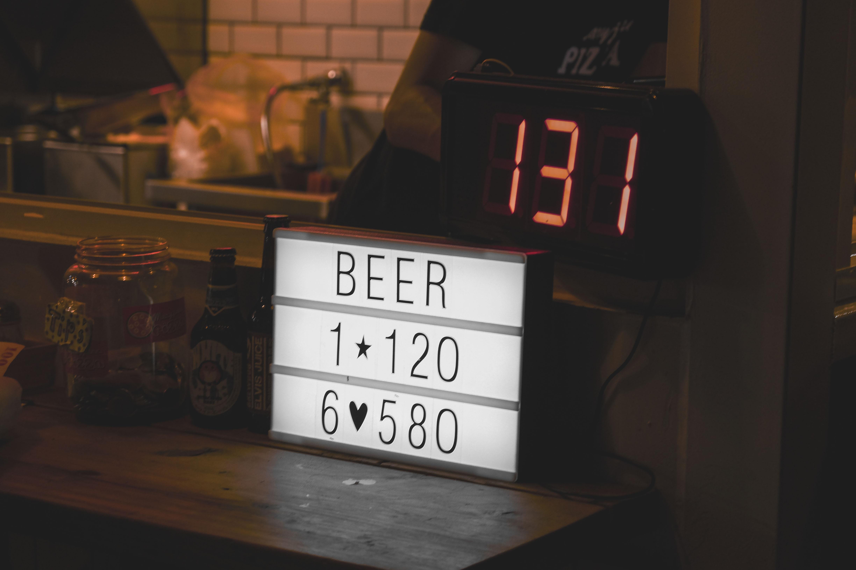 black digital clock at 131