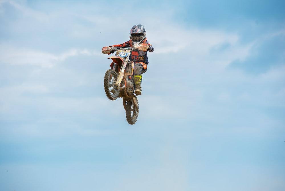 man riding motorcycle