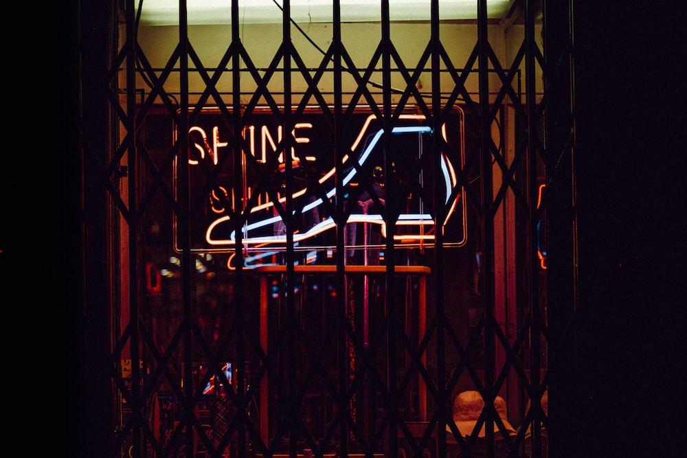 black metal scissor gate