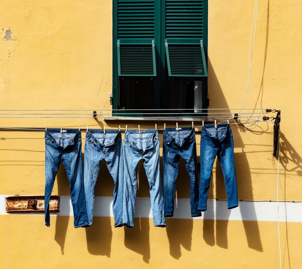 100 Jeans Pictures Download Free Images On Unsplash Mom N Bab Vest Blue Denim Five Hanged Grey Cable Near Window