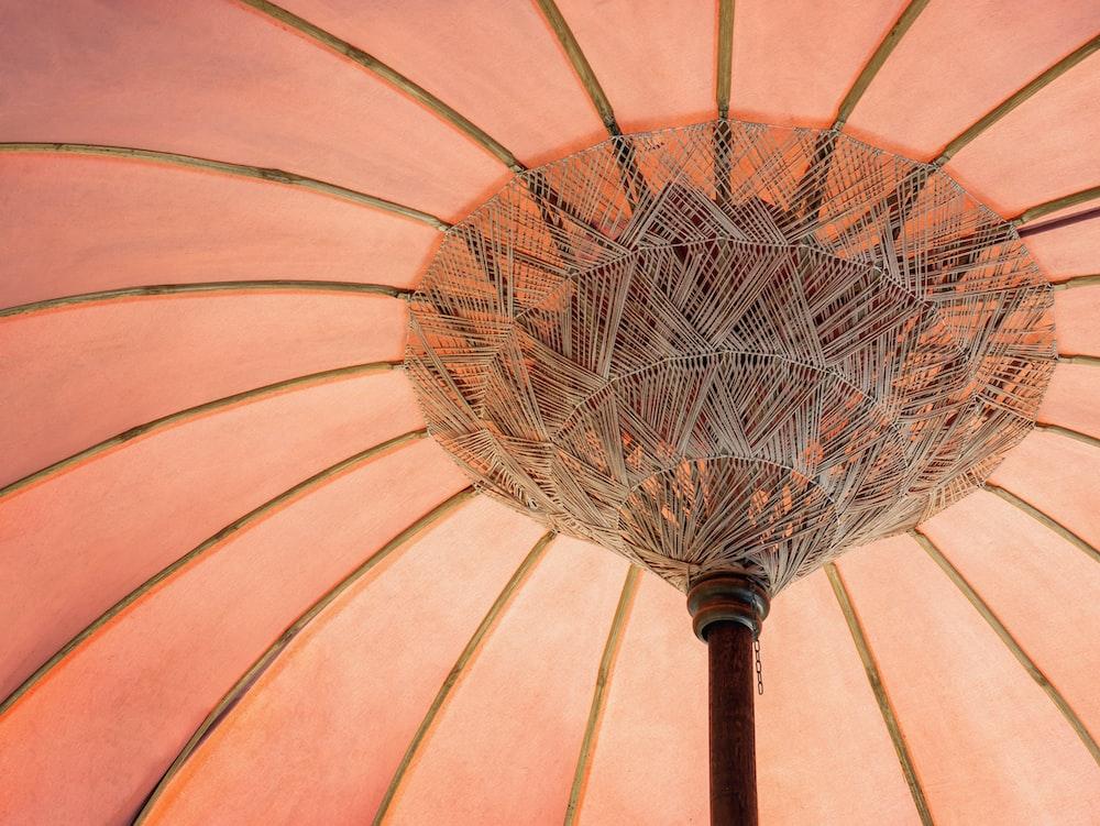 orange patio umbrella base