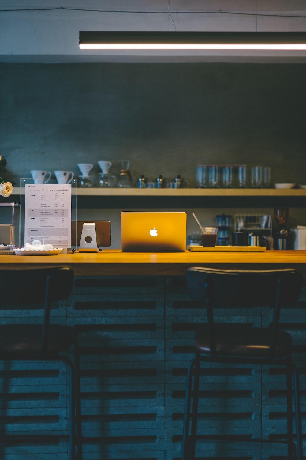 MacBook on table