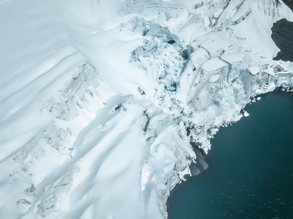 bird's eye view of iceberg