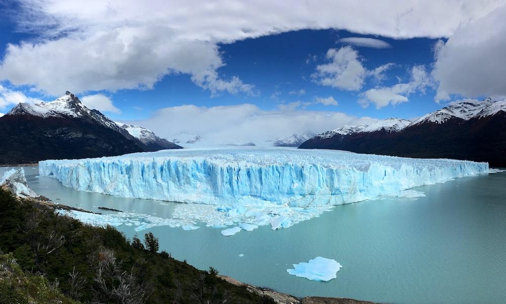 landscape photography of white iceburg