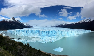 landscape photography of white iceburg argentina teams background