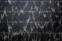 black and gray wall art