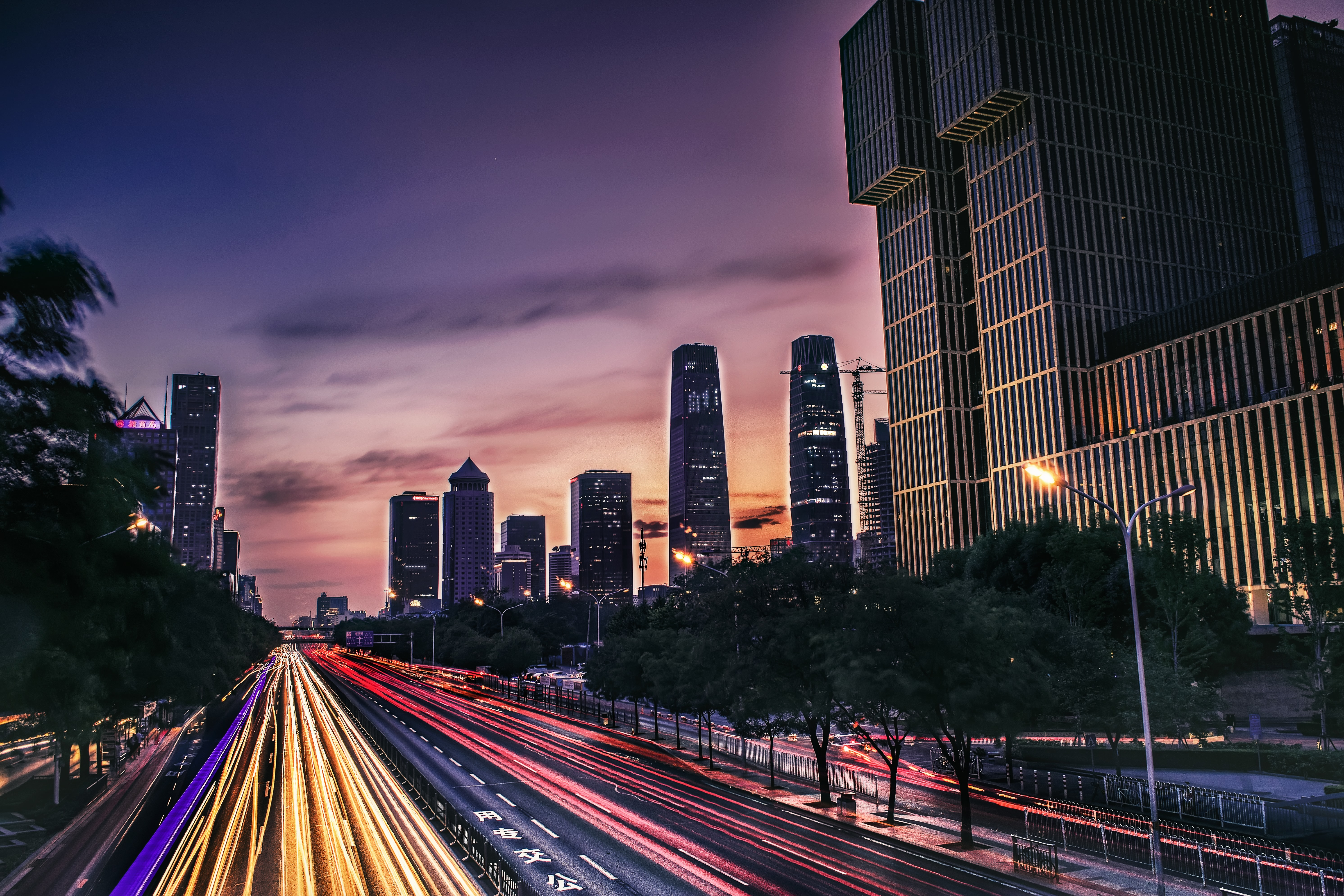 time-lapse photography of city lights