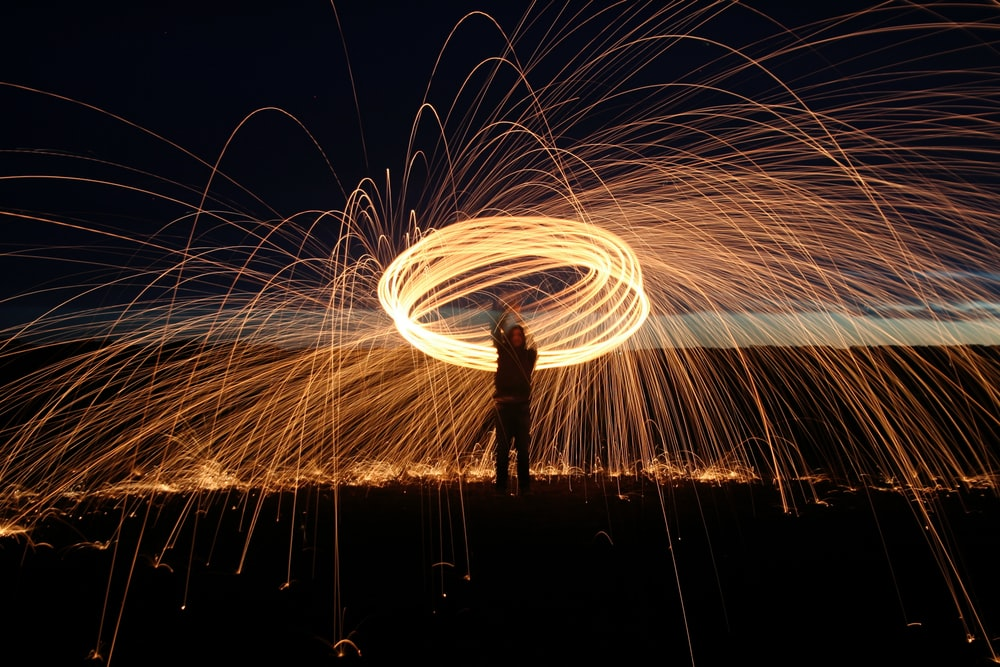 person doing flare tricks