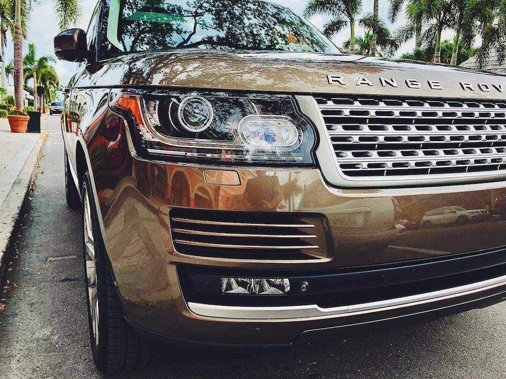 beige Range Rover vehicle