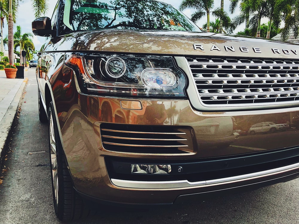 beige Range Rover vehicle