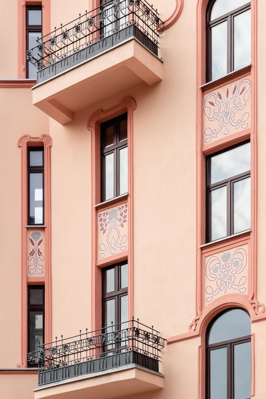 pink concrete building