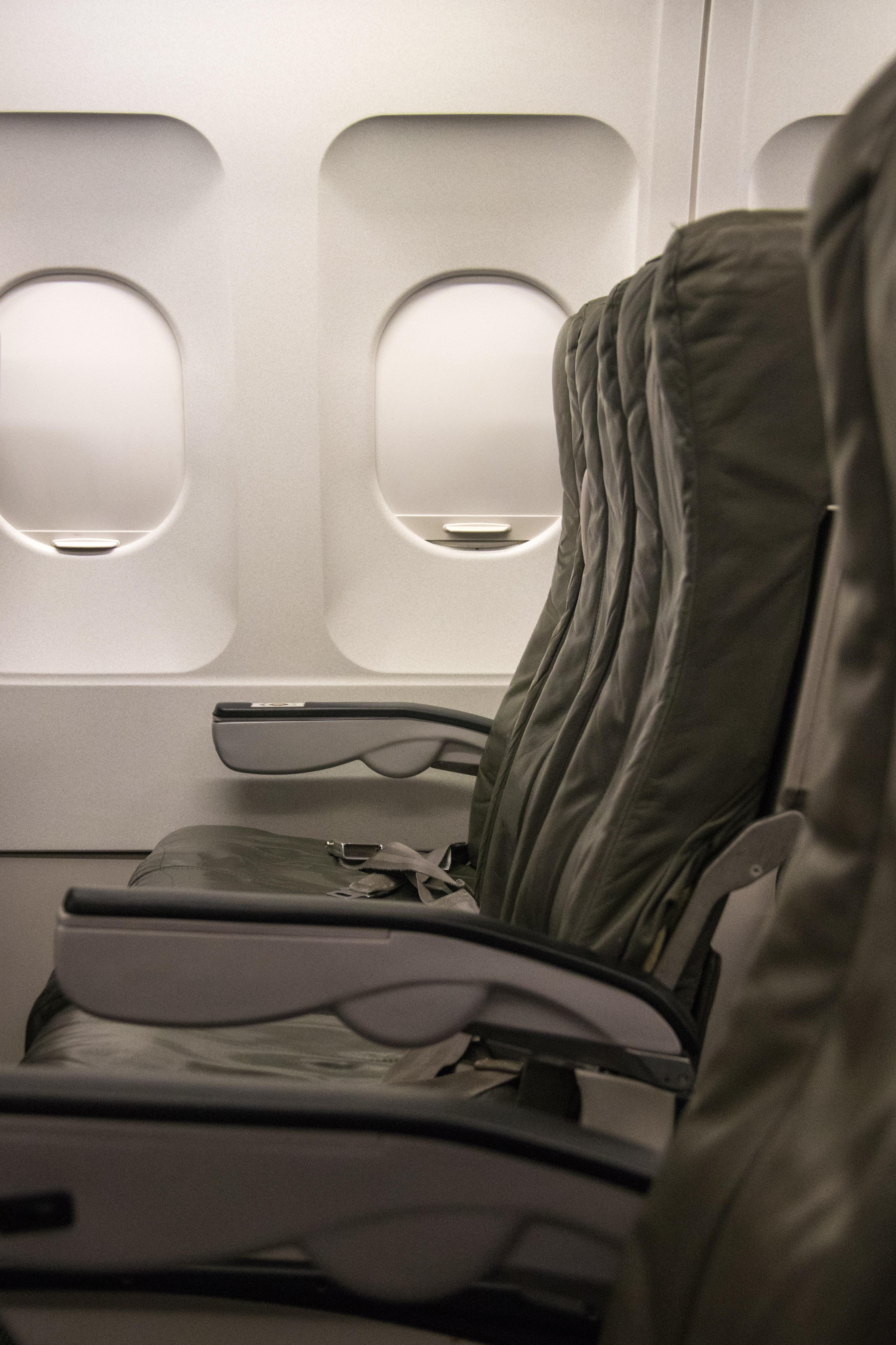 unoccupied plane seats