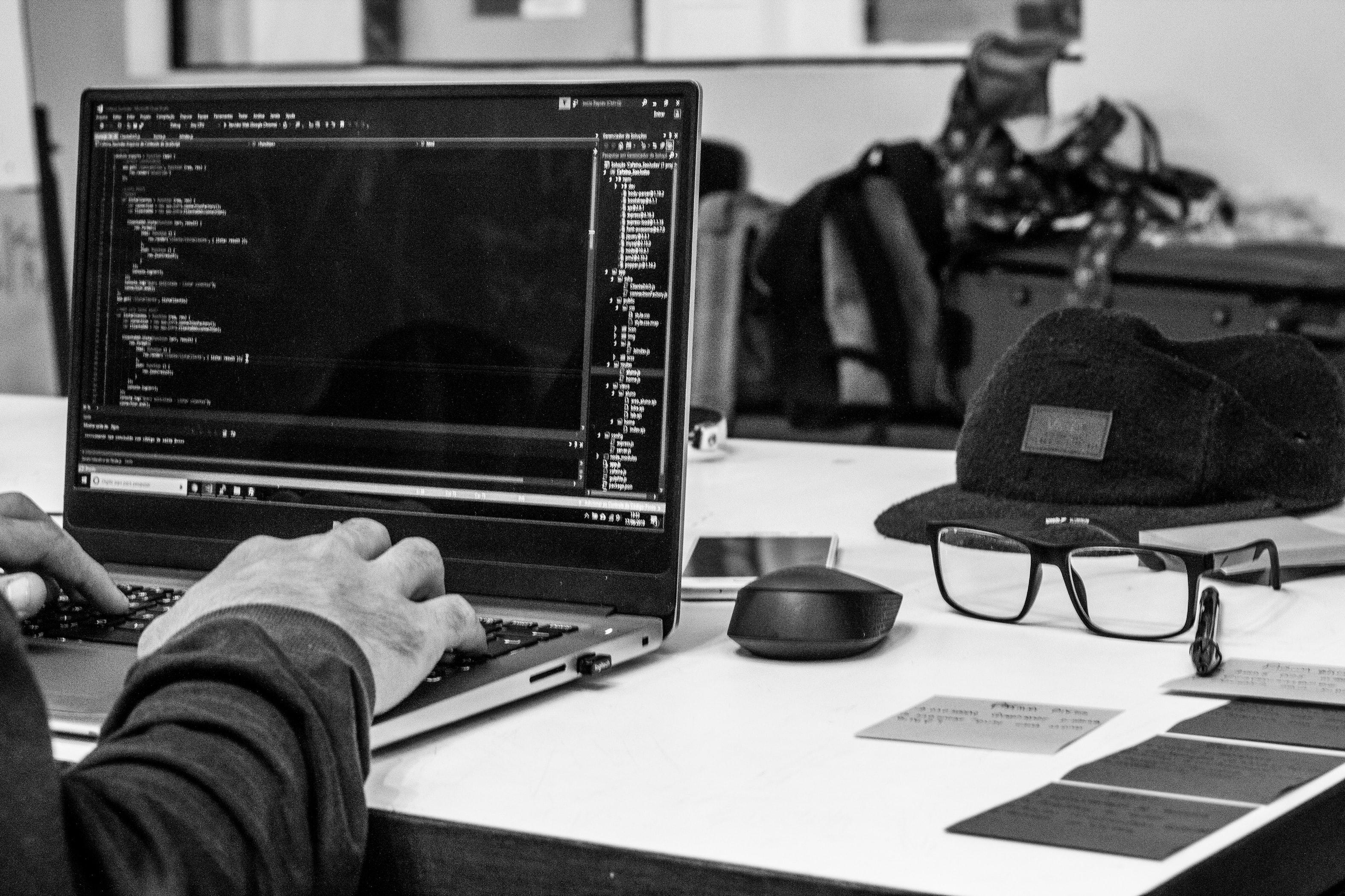 A developer at a computer