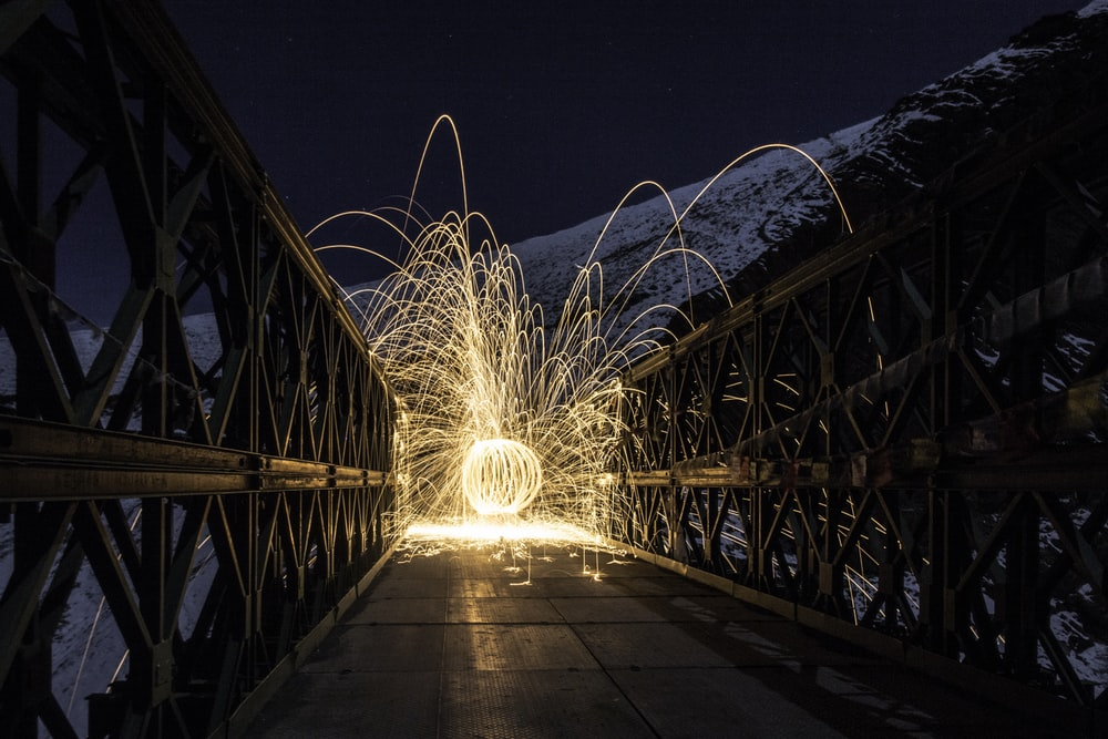 steel wire on bridge