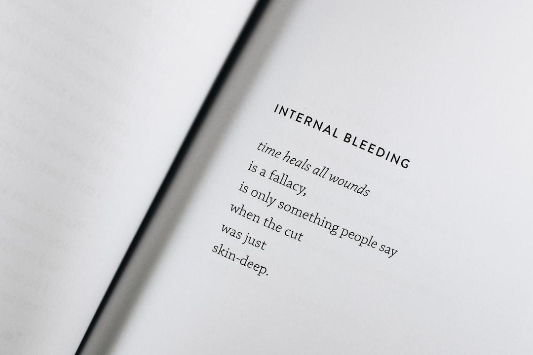 Internal Bleeding poem excerpt from Bloodline