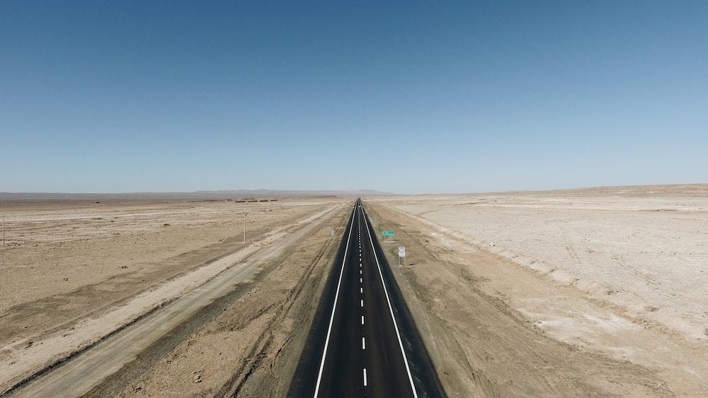 top view of asphalt road