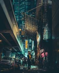 woman walking in hallway during nighttime