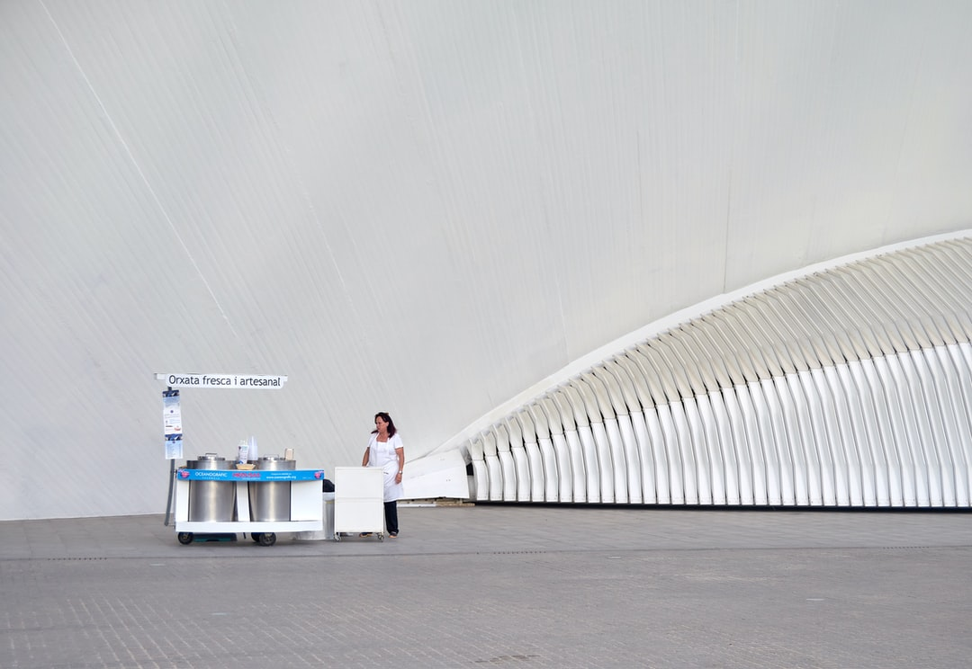 In the city of sciences of Valencia (Spain), designed by the architect Calatrava, they sell fresh horchata (a typical Valencian soft drink) to combat the heat of summer.
