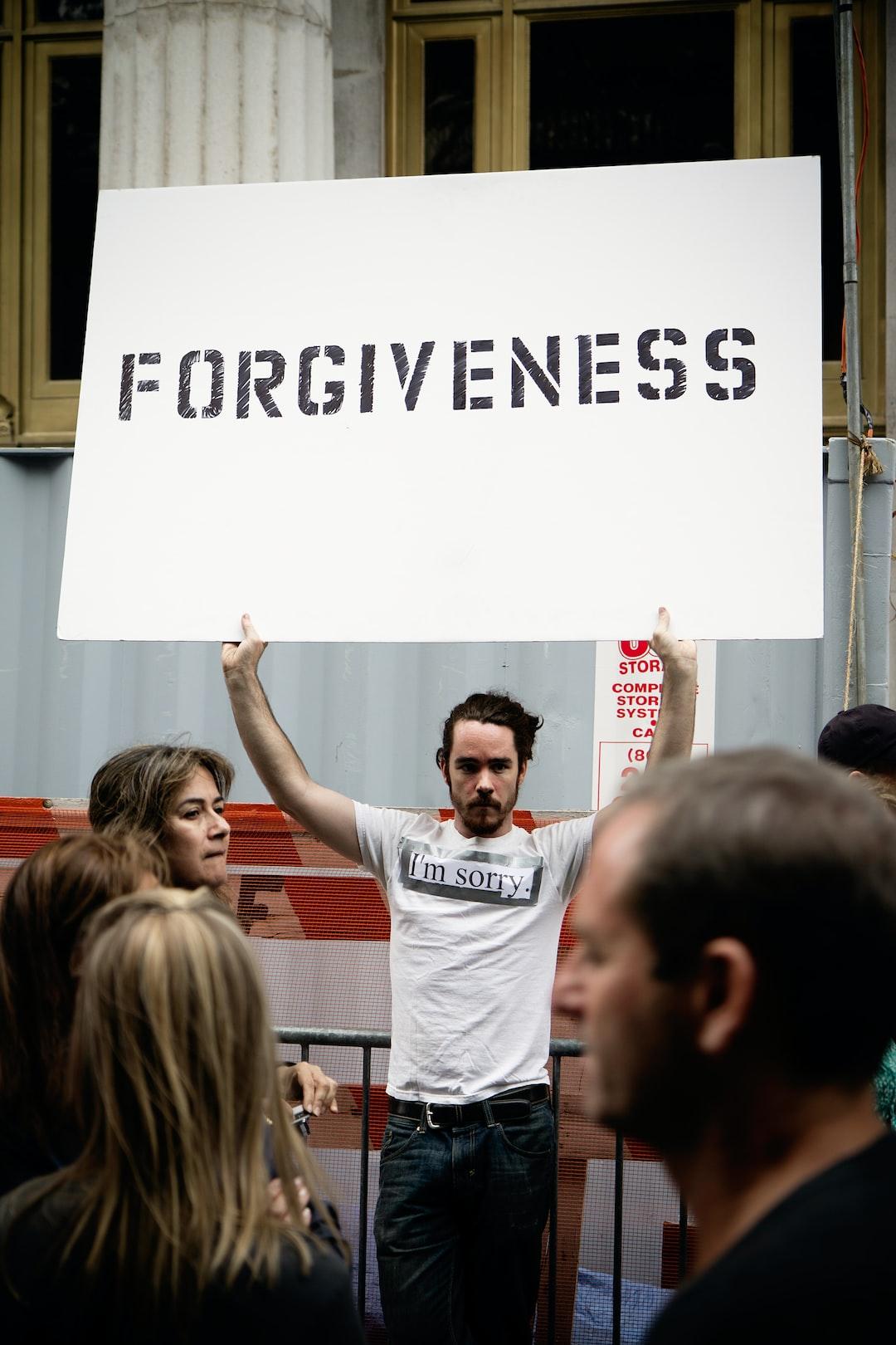 """Forgiveness"""