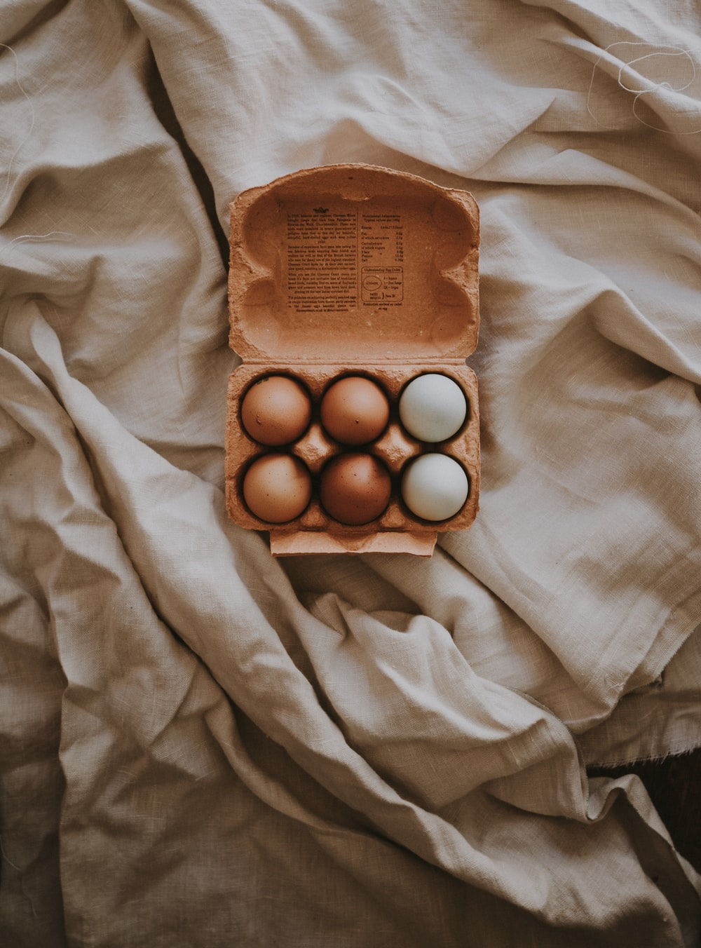 six eggs in box