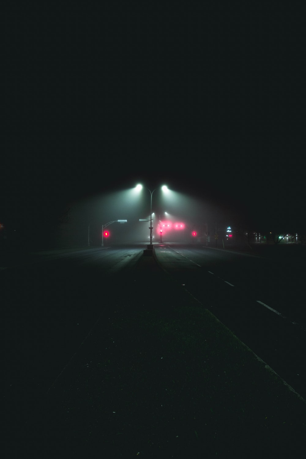 road during night