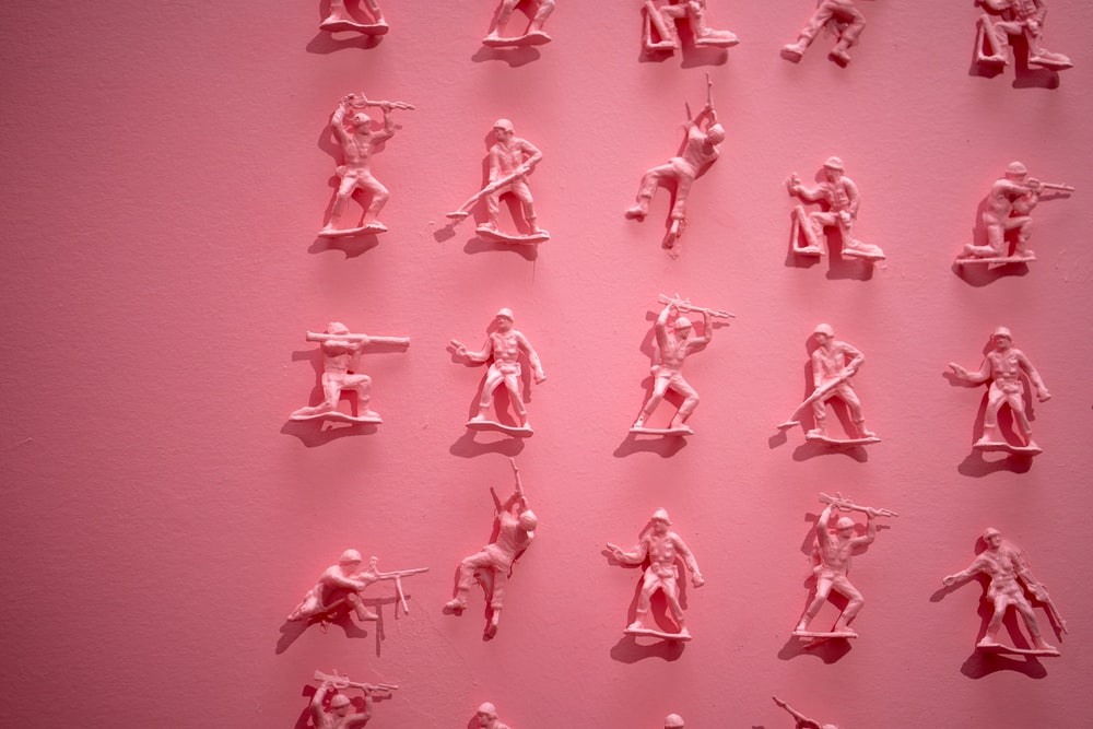 Pink, toy, soldiers and figurine | HD photo by Jason Leung