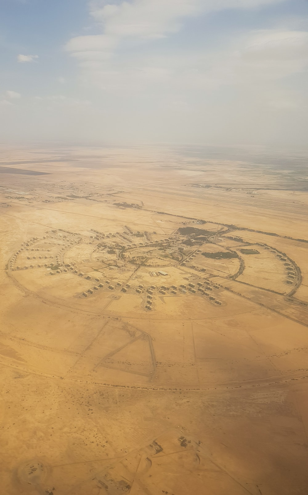 aerial view of crop circle