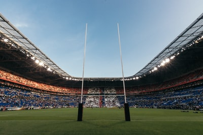 football stadium rugby teams background