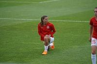 woman on field