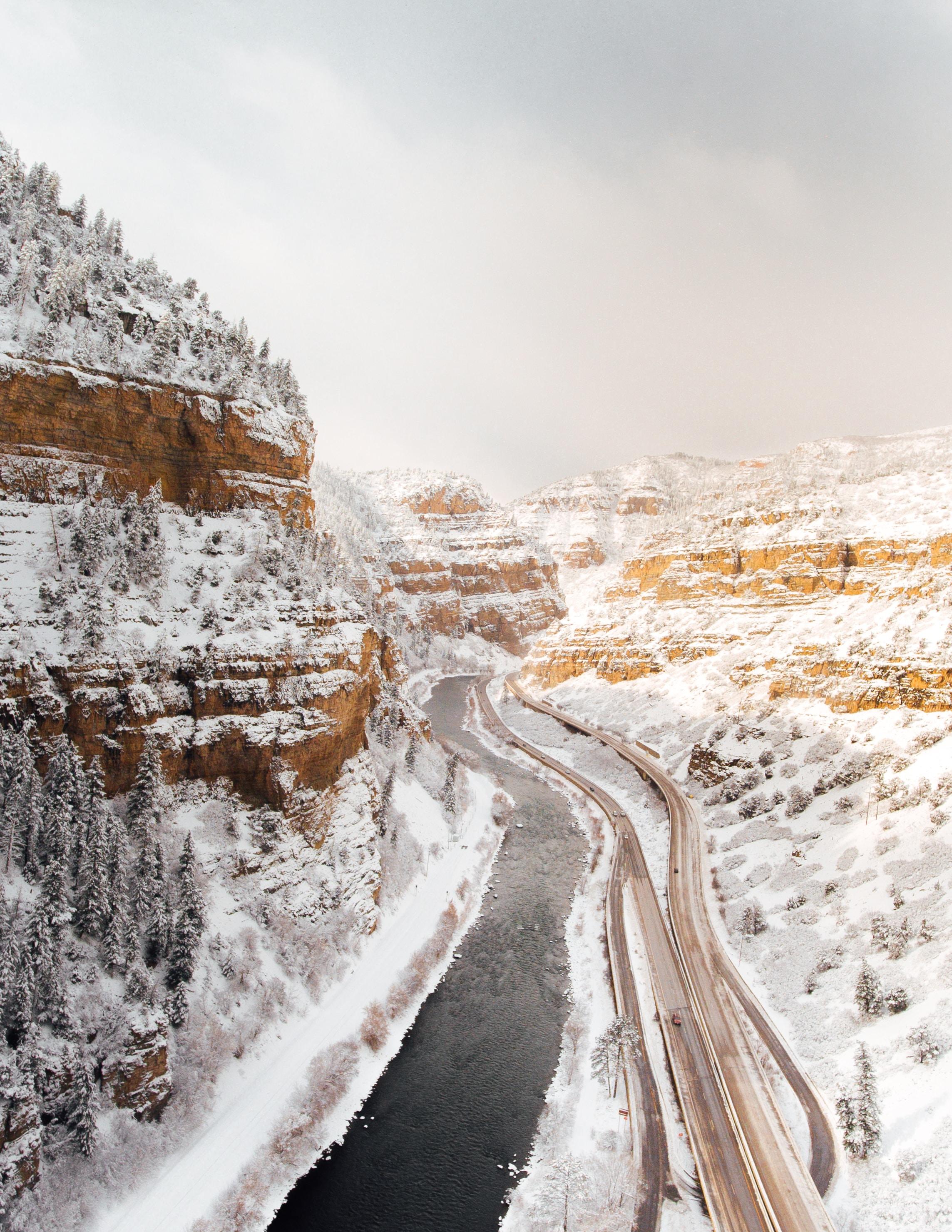 road between mountain alps