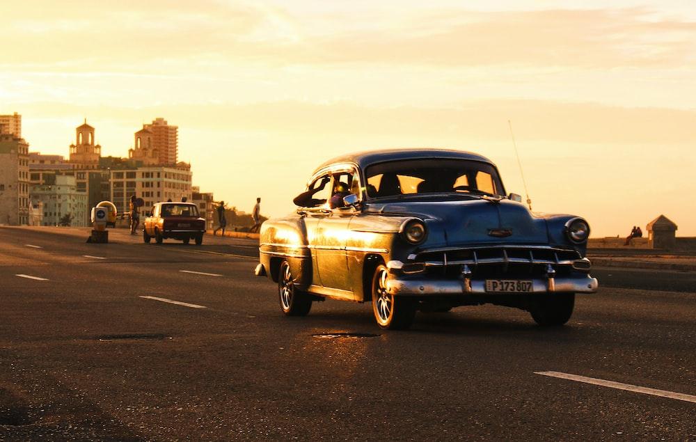 classic blue vehicle