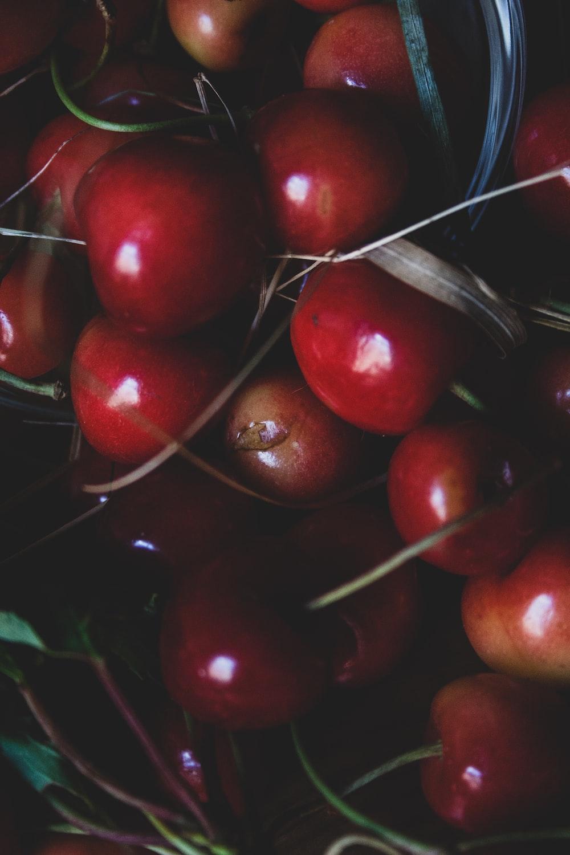 pile of cherry fruit
