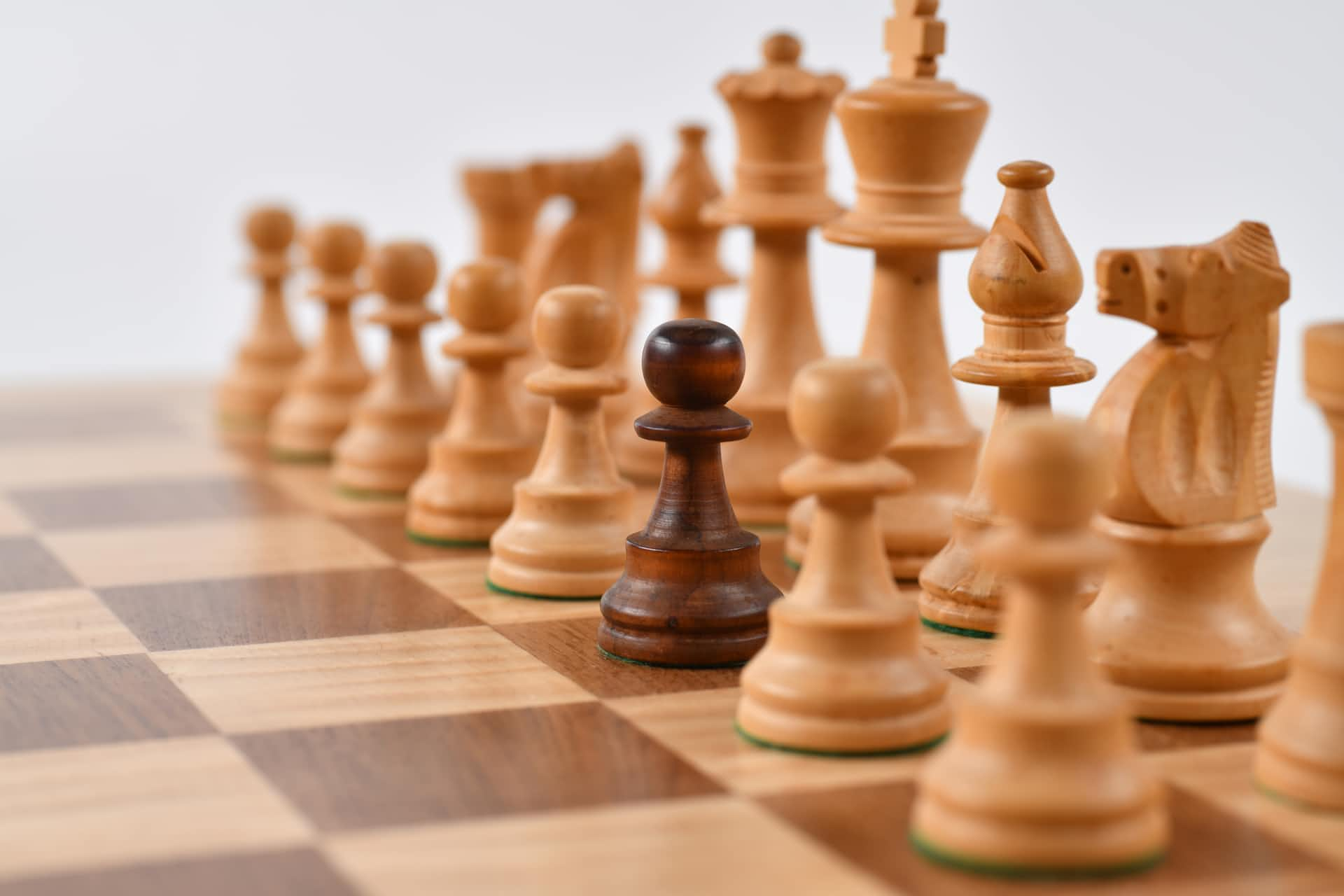 Chess Piece Stand Out from the Crowd