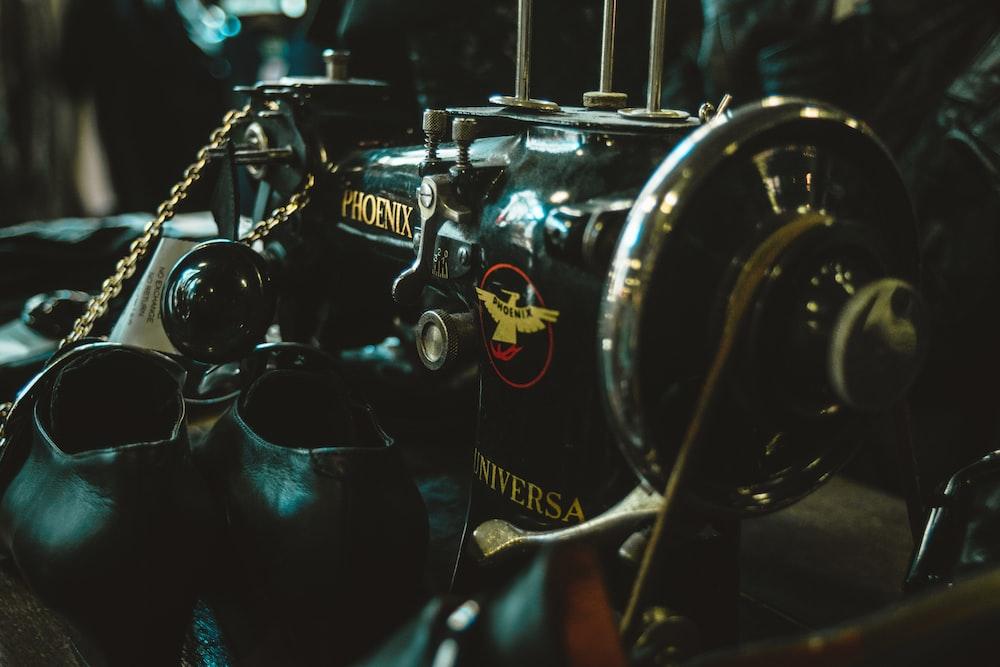 black and brown Phoenix sewing machine
