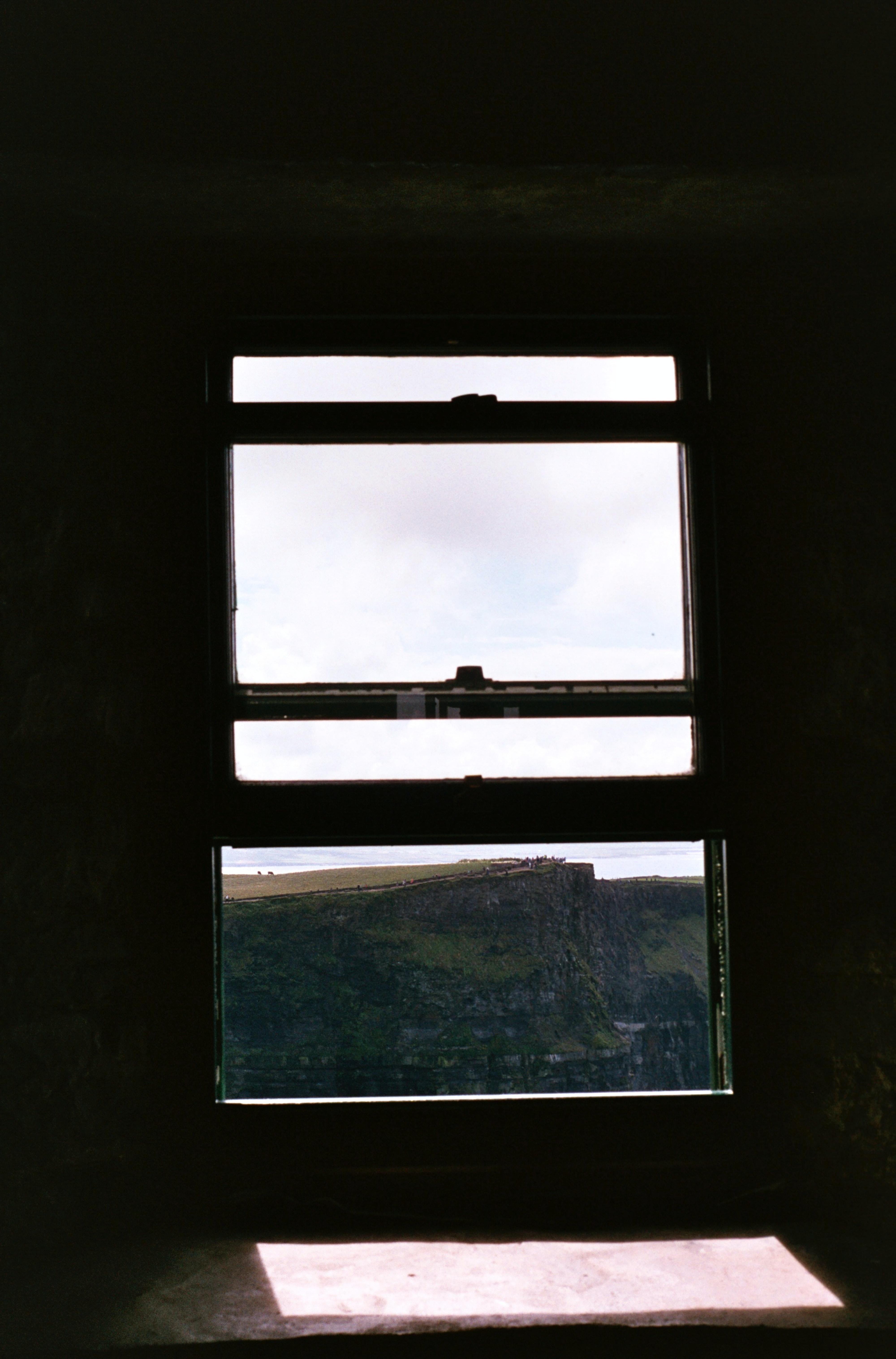 close-up photo of windowpane