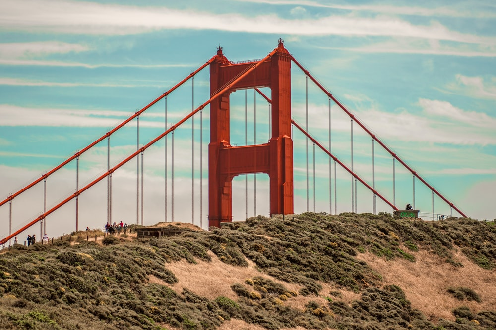 orange and brown concrete bridge