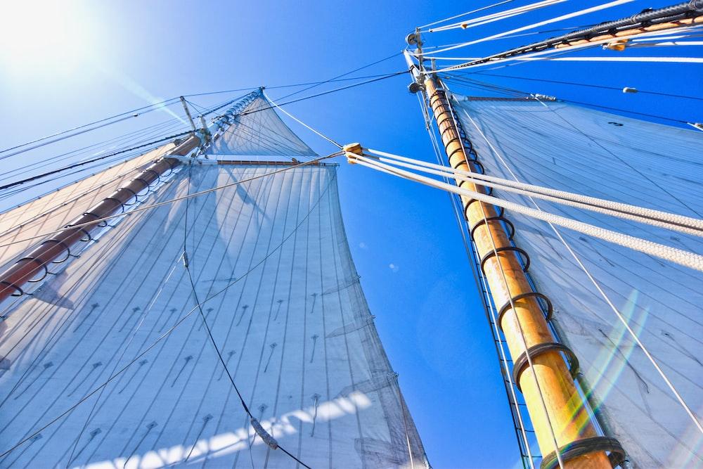 brown sailing ship mast