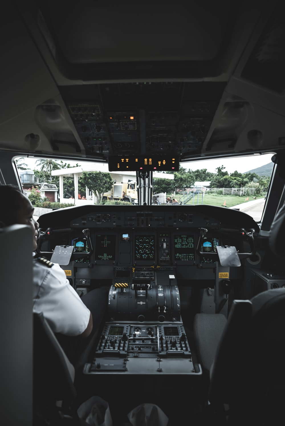 pilot inside operating the aircraft