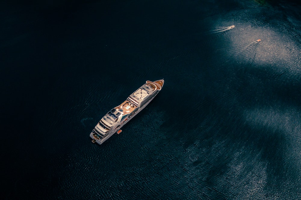 cruise ship on body of water