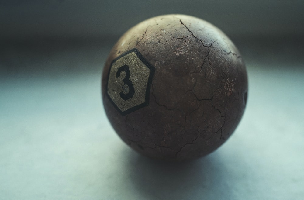 brown billiard ball