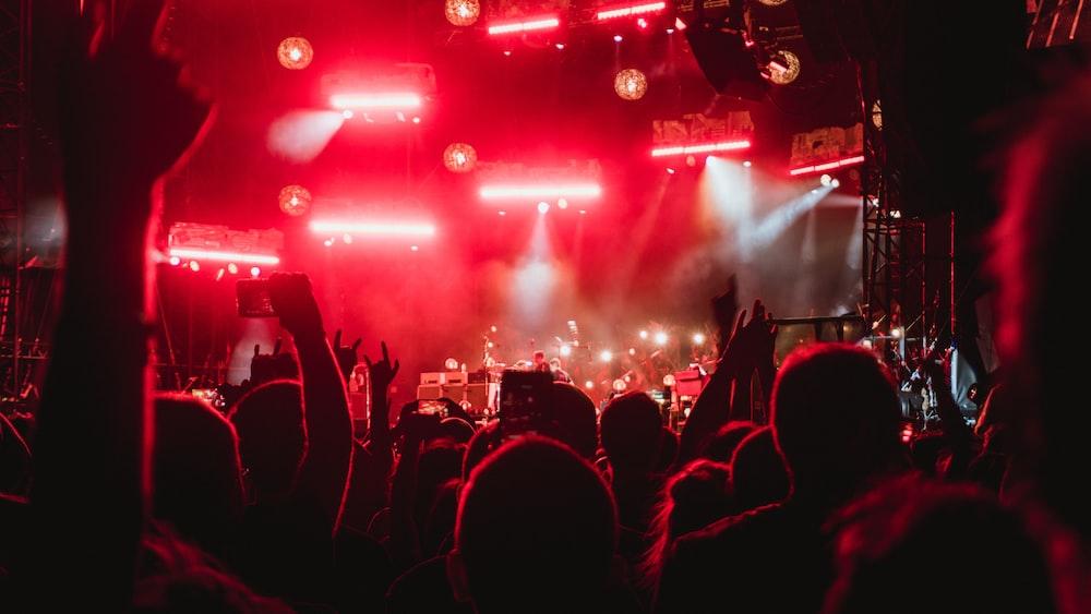 photo of people inside concert venue