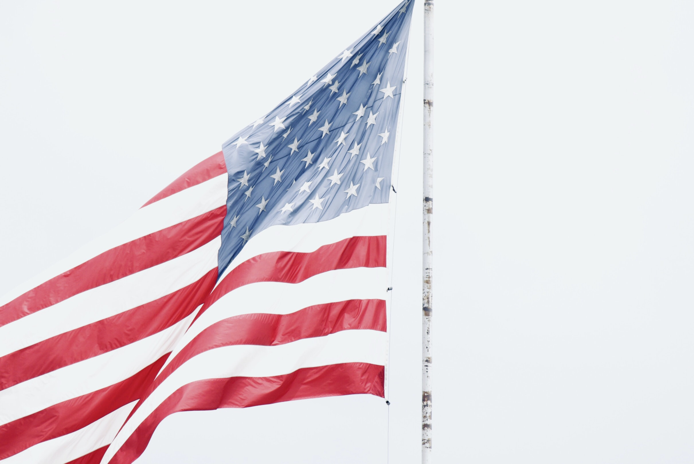 flag of USA on pole